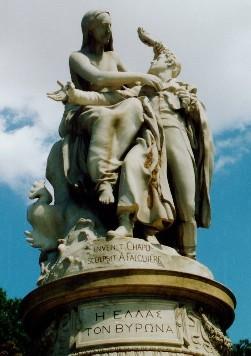 バイロン卿はギリシャ独立運動に参加し、死去。ギリシャ独立の父と呼ばれる。今日でも甘美な潤いを与える詩集本、書籍を残す。